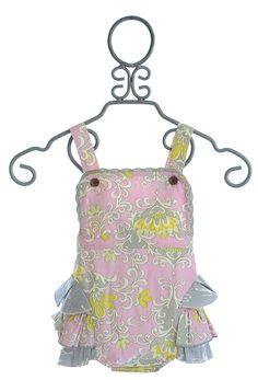 Mustard Pie Savannah Sunsuit in Sweet Pink (Newborn & Baby Girls, Little Girls, Baby Girl Swimsuit, Baby Bloomers, Savannah Chat, Summer Fun, Mustard, Kids Outfits, Pie