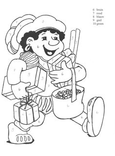 Werkbladen kleuters Kids Daycare, Little Ones, Paint Colors, Coloring Pages, Diy And Crafts, Saints, School, Comics, Painting