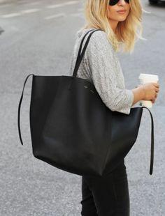 Big bags <3 #bag #black #trendy #summer