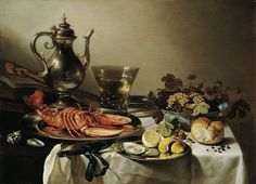 Pieter Claesz , A still life with a roemer, a crab and a peeled lemon