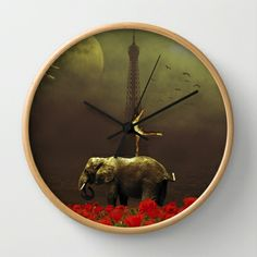Paris Circus Wall Clock by Lapierre Eric - $30.00