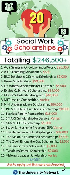 Here is a selection of Social Work Scholarships that are listed on TUN. Here's a list of selected Social Work Scholarships listed on The University Network. College Majors, College Years, Education College, College Tips, College Teaching, College Club, Free Education, Special Education, Teaching Kids