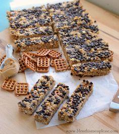 chocolate pretzel granola bars/homemade granola bar recipe