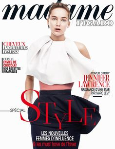 Jennifer Lawrence looks stunning on the cover of French magazine Madame Figaro.