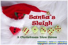 Santa's Sleigh Dice game is a great fun, quick and ewasy game played with five dice and any umber of players in any age range. Easy Math Games, Dice Games, Family Party Games, Adult Party Games, Games To Play With Kids, Fun Activities For Kids, Kids Fun, Set Card Game, Card Games