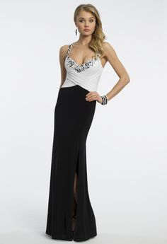 Camille La Vie Jersey Prom Dress with Pleated Bodice