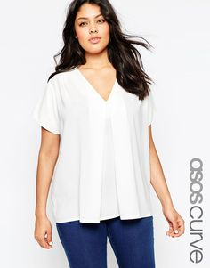 In. Love. with this simple but unique shirt form #ASOSCurve. More colors pretty please.