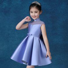 60.00$  Buy now - http://alire5.worldwells.pw/go.php?t=32779319910 - Princess dress ball gown wedding perform beading sleeveless flower girl dresses 60.00$