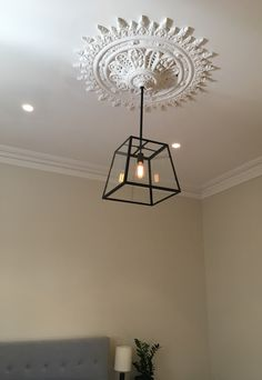 Modern pendant in ceiling rose