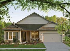 Plan W33000ZR: Narrow Lot, Southern, Net Zero Ready, Ranch, Green, Photo Gallery, Traditional House Plans & Home Designs