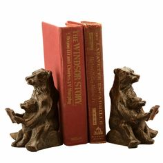 Cast Iron Reading Bear Bookends by SPI Home $44, You Save $16.00