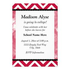 Off To College Party Invitations