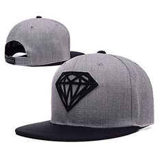 Komerly-TY Unisex Adjustable Fashion Leisure Baseball Hat Diamond Snapback  Dual Colour Cap Gewand 54926b883c9c