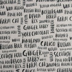 This cotton is perfect for quilting, home decor and clothing projects Devon Rex, Russian Blue, Pixie Bob, Writing, Grey, Cotton, Gray, Being A Writer