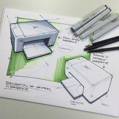 Simple geometry in perspective #designsketching #sketch #copic #perspective #exploratorysketching #industrialdesign #copicWIP