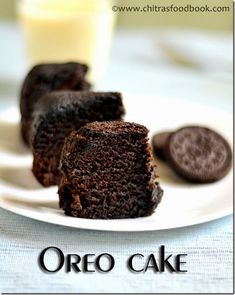 Easy,eggless 5 minutes microwave Oreo biscuit cake with just 4 ingredients ! - Kids would love its taste:) (Cake Recipes Oreo) Eggless Desserts, Eggless Recipes, Eggless Baking, Easy Desserts, Microwave Recipes, Microwave Baking, Oreo Desserts, Eggless Microwave Cake Recipe, Cake In Microwave