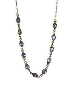 Perfect to glam up any outfit. Made with shiny faceted tanzanite gemstones & gold filled chain. Drop Necklace, Beaded Necklace, Necklaces, Tanzanite Gemstone, Gemstones, Boho Beautiful, Looks Vintage, Labradorite, Jewelry Accessories