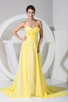 Buy cute watteau train yellow long pageant dresses with cool back from yellow pageant dresses collection, sweetheart neckline empire in color,cheap chiffon dress with backless and watteau train for prom formal evening pageant celebrity . Prom Dress 2013, Dresses 2013, Pageant Dresses, Strapless Dress Formal, Homecoming Dresses, Prom Gowns, Cute Wedding Dress, Fall Wedding Dresses, Colored Wedding Dresses