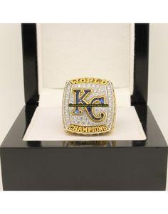 2015 Kansas City Royals MLB World Series Baseball Gemstone Championship Ring