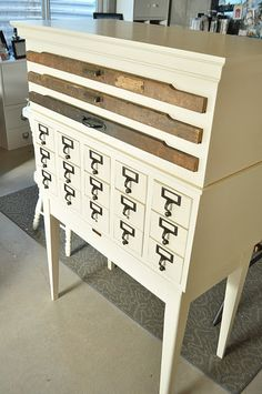 Printer's Drawer Cabinet & Library Card Catalog