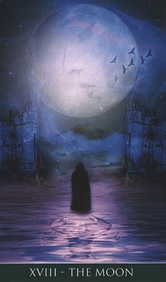 The Moon - Thelema Tarot -If you love Tarot, visit me at www.WhiteRabbitTarot.com