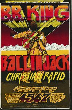 BG # 269 B.B. King Fillmore postcard BG269 B.B. King Ballinjack Christian Rapid  2/4-7/1971 Artist: Norman Orr