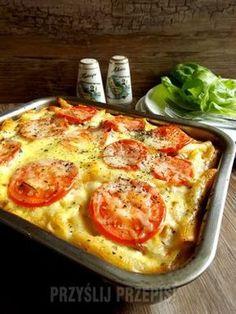 Zapiekanka makaronowa na szybko Diabetic Recipes For Dinner, Dinner Recipes, Healthy Recipes, Polish Recipes, Vegetable Pizza, Food Porn, Food And Drink, Snacks, Meals
