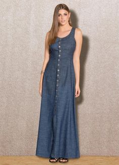 Vestido Longo Jeans - Posthaus