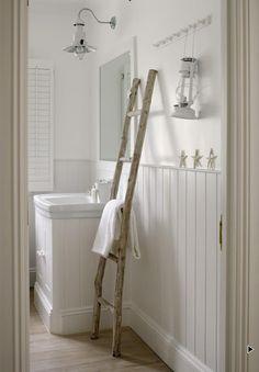 cute idea for a towel holder.
