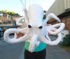 Paper Mache Octopus DIY for Halloween