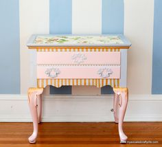 Modern Masters Metallic Paint helps with a painted Side Table Makeover | Project by My So Called Crafty Life