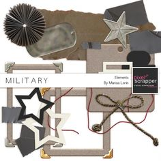 Military Elements Kit by Marisa Lerin Layout, Digital Scrapbooking, Paper Crafts, Military, Kit, Deco, Frame, Air Force, Quilts