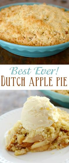 """This is the best recipe for Dutch Apple Pie ever! We call it """"Evil Apple Pie"""", and it is simply divine! This is the best recipe for Dutch Apple Pie ever! We call it Evil Apple Pie, and it is simply divine! Apple Pie Recipes, Baking Recipes, Sweet Recipes, Dessert Recipes, Mini Desserts, Delicious Desserts, Yummy Treats, Oreo Dessert, Dutch Apple Pie Topping"""