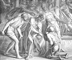 Bilder der Bibel - Jesu Verspottung und Geißelung - Julius Schnorr von Carolsfeld
