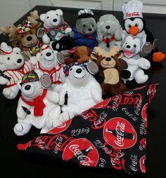 Coca Cola North Pole Plush Bean Bag Buddie Beanie Polar Bear Collection Lot 14 | Collectibles, Advertising, Soda | eBay!