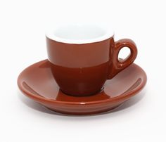 Dickwandige Espresso Tasse Palermo in Braun von Nuova Point - Thick walled espresso cup Nuova Point Palermo, Cappuccino Tassen, Tea Cups, Tableware, Kaffee, Italy, Dinnerware, Dishes, Teacup
