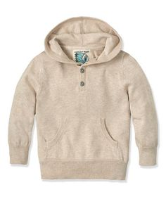 Another great find on #zulily! Oatmeal Heather Henley Hoodie - Infant, Toddler & Boys by RUUM #zulilyfinds