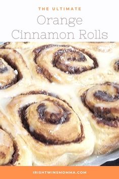 Orange Cinnamon Rolls that have the perfect touch of sweetness with zesty orange to make you want to keep coming back for more.
