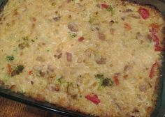 A Mad Tea Party: redeeming casseroles Sausage And Rice Casserole, Casserole Recipes, Crockpot Recipes, Cooking Recipes, Sausage Rice, What's Cooking, College Cooking, Dinners To Make, Breakfast Lunch Dinner