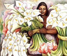 The Calla Lily Seller (1938) by Diego Rivera