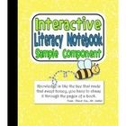 This sample of my 3rd grade Interactive Literacy Notebook for RL CCSS includes information about setting up interactive notebooks and one component...