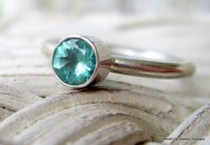 Apatite sterling stack ring - ppennee on Etsy