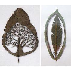 Leaf cut art