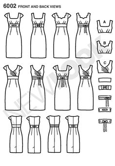 New Look 6002 Misses' Design Your Look Dresses with bodice variations OOP…