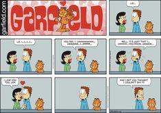 Garfield by Jim Davis for February 10 2019 Garfield Quotes, Garfield Cartoon, Garfield Comics, Cat Cartoons, Hagar The Horrible, Jim Davis, Lost In Space, Nightmare On Elm Street, Grumpy Cat