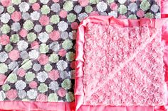 Add a little pop to any room with this Garden Bouquet Minky Couture #blanket!