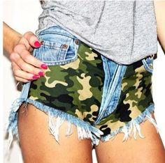 ARMY SHORTS CAMO Studded Shorts by ItsCosmatic on Etsy