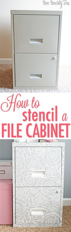 GREAT tutorial on how to stencil any piece of furniture!