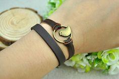 Brown Leather  braceletBronze Bird BraceletWomen's by Evanworld, $1.25