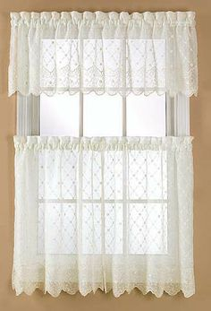 Mystic Is A Wonderful Delicately Embroidered Crushed Voile. Tier Pair U0026  Valance Sold Seperately. Tier CurtainsWhite CurtainsKitchen ...